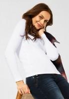 CECIL - Basic Shirt in Unifarbe in White
