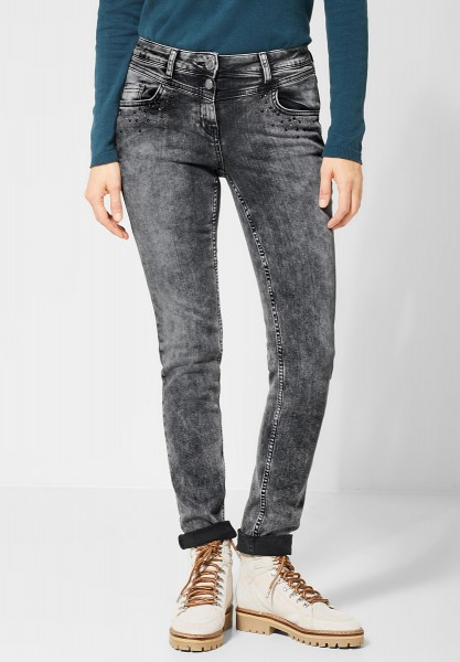 CECIL - Repreve® Denim Charlize in Mid Grey Used Wash-32er Länge