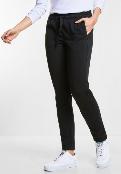 CECIL - Casual Fit Joggpants Tracey in Black