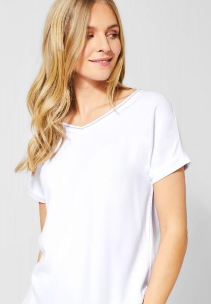 Street One - Glitzer Bluse Landa in White