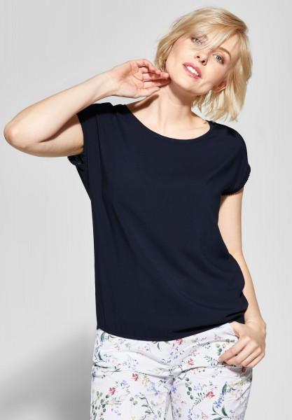CECIL - Shirt mit Häkelborte in Deep Blue