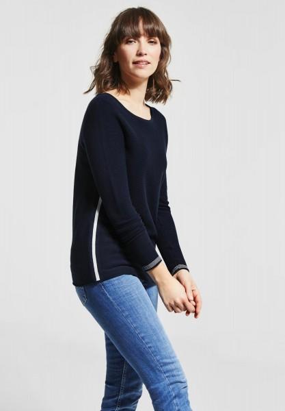 CECIL - Pullover mit Streifendetail in Deep Blue