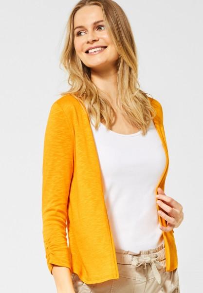 CECIL - Strickjacke mit Raffung in Mango Yellow