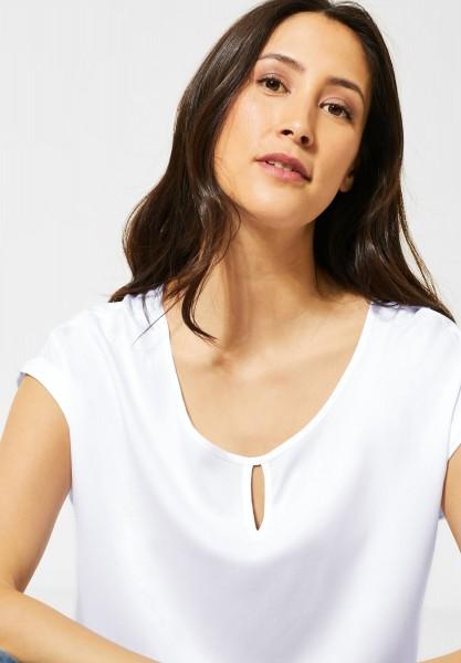 Street One - Lässige Bluse in Unifarbe in White