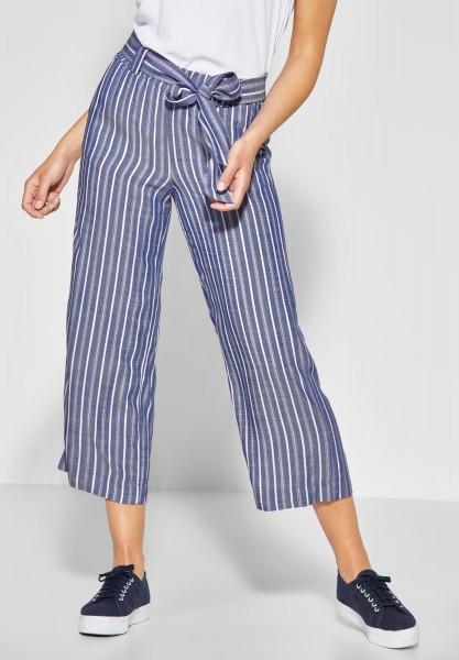 Street One - Loose-Fit Hose mit Streifen in Cool Blue