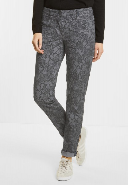CECIL - Animal Print Hose Victoria in Dark Silver