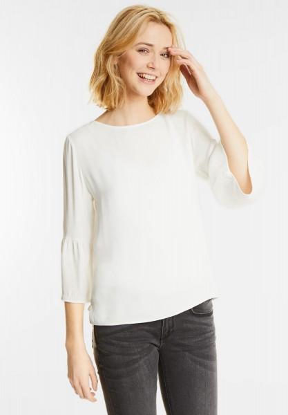Street One - Volantärmel Shirt Nastasia in Off White