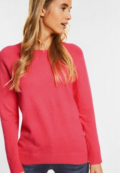 Street One - Rundhalspulli Maria in Colada Pink Knit