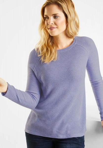 CECIL - Leichter Struktur Pullover in Lavender Lilac Melange