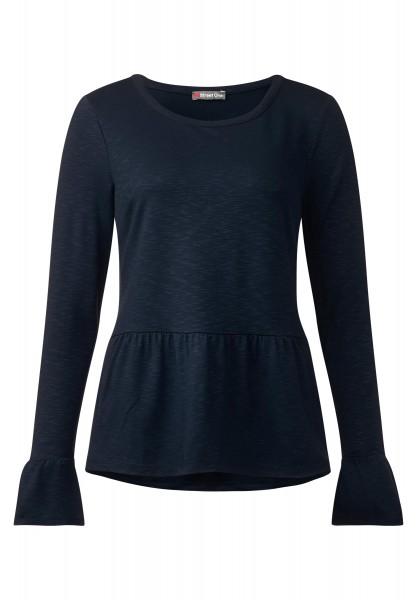 Street One - Shirt mit Volants Kathleen in Night Blue