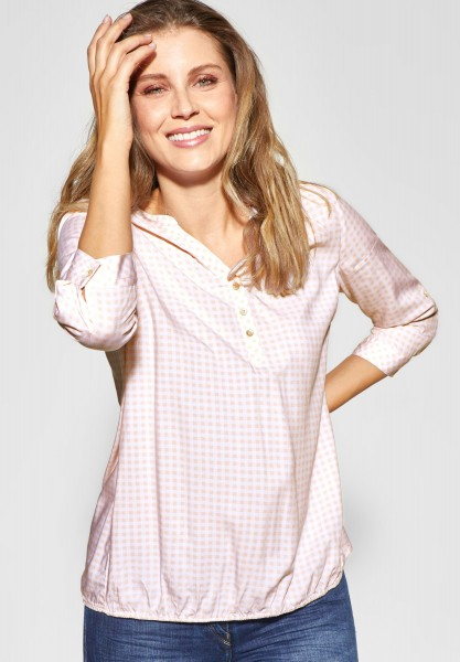 CECIL - Bluse mit Karoprint in Rosy Apricot
