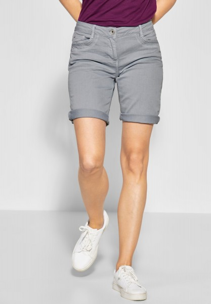 CECIL - Denim Shorts New York in Cool Silver
