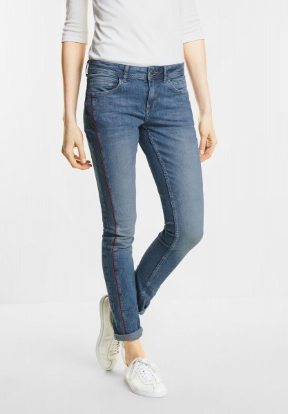 Street One Casual Fit Washed Denim Jane in Mid Blue Authentic Wash