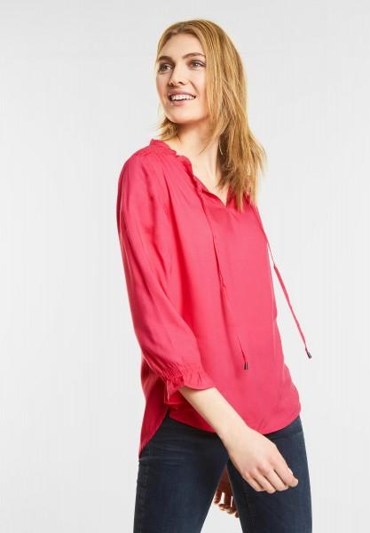 Street One Bluse mit Rüschenkragen in Colada Pink