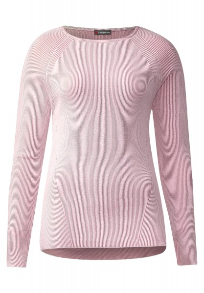 Street One - Rippstrick Pullover Fanny in Blooming Rose