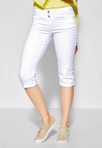 CECIL - Tapered Leg Hose Scarlett in White Denim