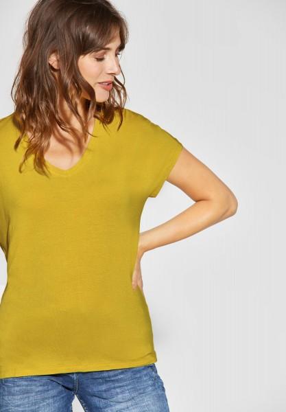 CECIL - Lässiges Basic-Shirt in Ceylon Yellow