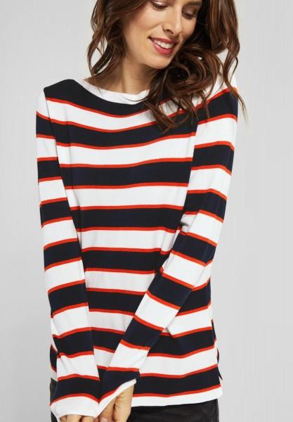 Street One - Streifen Pullover in Deep Blue