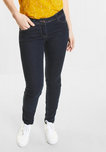 CECIL Crash-Denim Scarlett in Dark Blue Wash