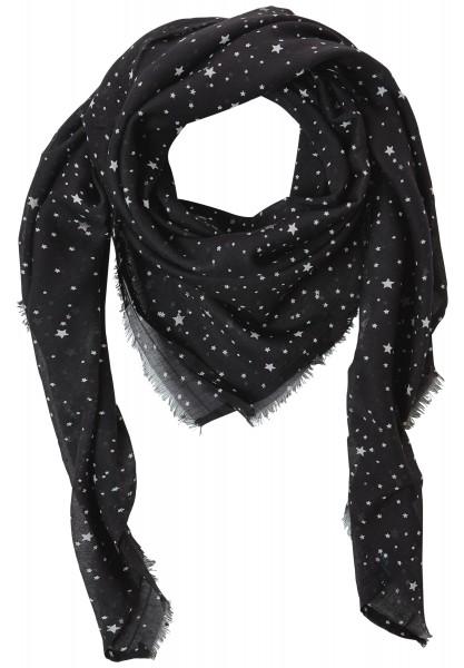 CECIL - Fransentuch mit Sternenprint Black