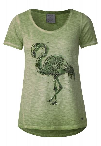 CECIL - Shirt mit Perlenstickerei in Juicy Green