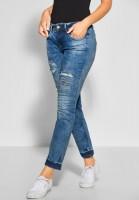 Street One - Ripped Jeans Jane in Fancy Vintage Wash