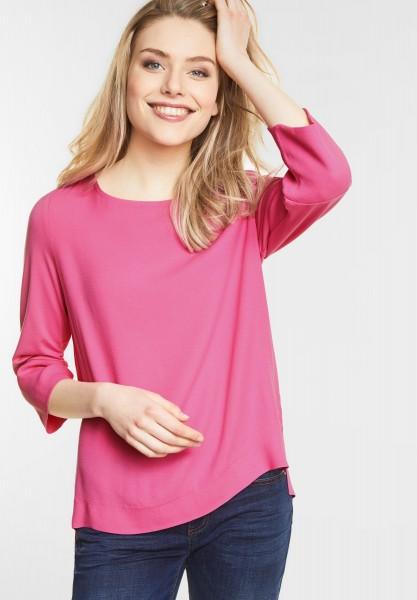 Street One - Blusiges Shirt mit Rundhals in Flamingo Pink