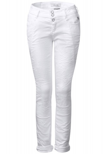 Street One - Loose Fit Hose Rob in White