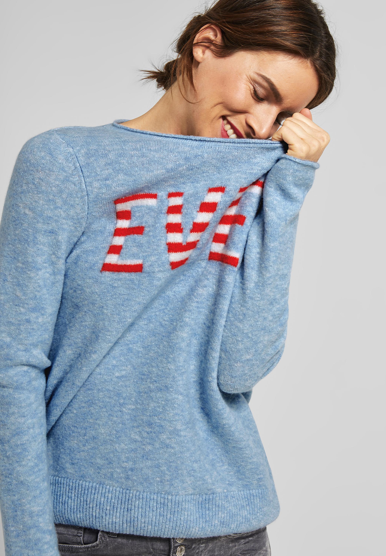 87b075ca3054 Wording Pullover in Cosmic Blue von Street One online kaufen