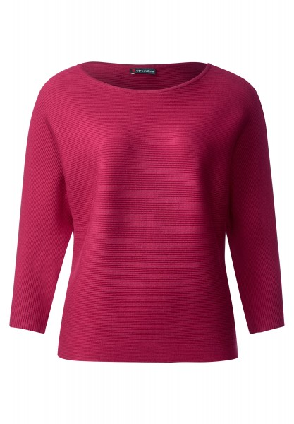 Street One - 3/4-Arm Ripp Pullover Dariah in Passion Pink