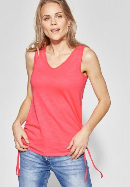 CECIL - Shirt mit Raffung Klea in Neo Coralline Red