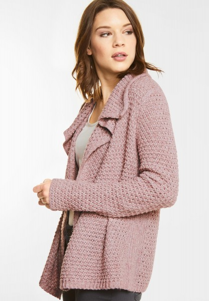 Street One - Weiche Strukturstrick Jacke in Charming Rose
