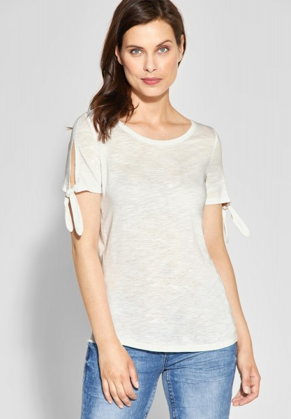 CECIL - Shirt mit Knotendetail in Pure Off White