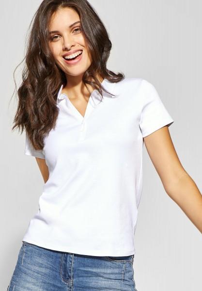 CECIL - Polo-Shirt Nele in White