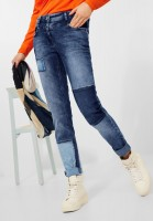 CECIL - Loose Fit Denim in Mid Blue Used Wash