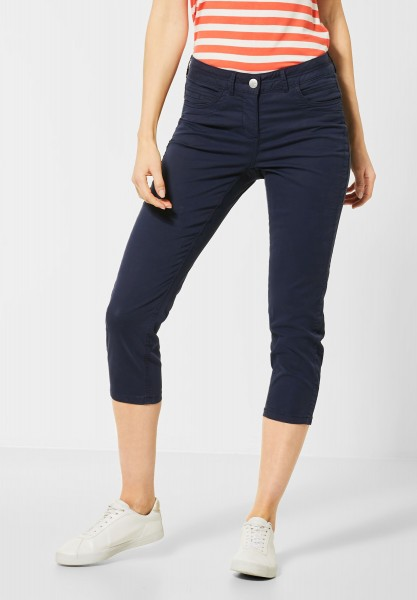 CECIL - Slim Fit Hose in Deep Blue