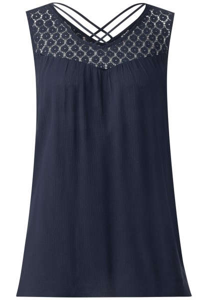 Street One - Spitzenpasse Top Prusilla in Night Blue