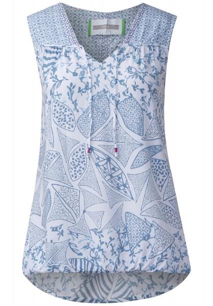 CECIL - Mustermix Print Bluse in White