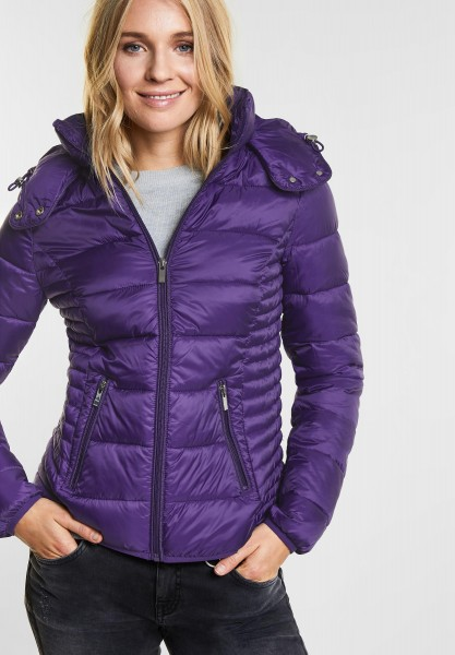 Street One - Wattierte Jacke Tilda in Rich Purple