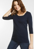 Street One - Schmales Basic Shirt Pania in Night Blue