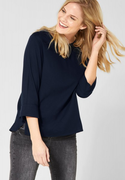 CECIL - Basic Bluse in Deep Blue