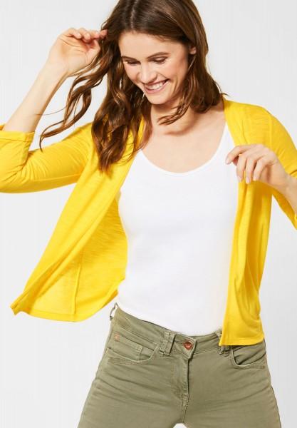 CECIL - Unifarbene Strickjacke in Radiant Yellow