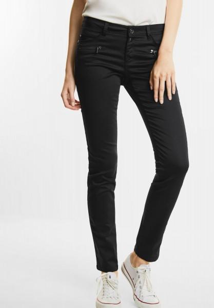 Street One - Coated Slim Fit Hose Yulius in Black