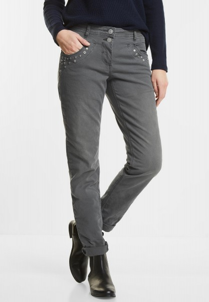 CECIL - Nietenhose New York in Graphit Light Grey