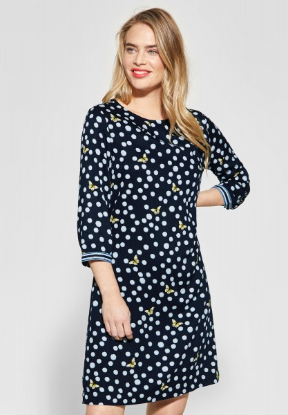 Street One - Kleid mit Frühlingsprint in Deep Blue
