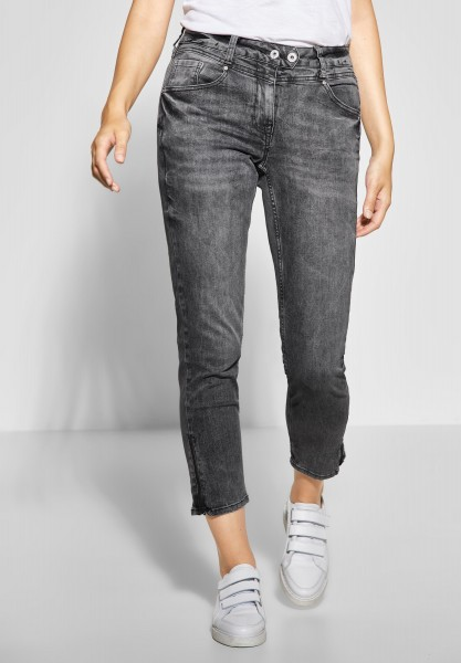 CECIL - Lässige Denim Charlize in Grey Used Wash