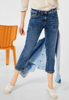 CECIL - Loose Fit Denim in 7/8 Länge in Mid Blue Wash