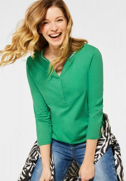 CECIL - Shirt mit Flammgarn in Spearmint Green