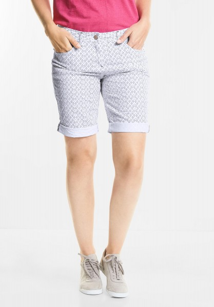 CECIL - Grafikprint Shorts New York in White