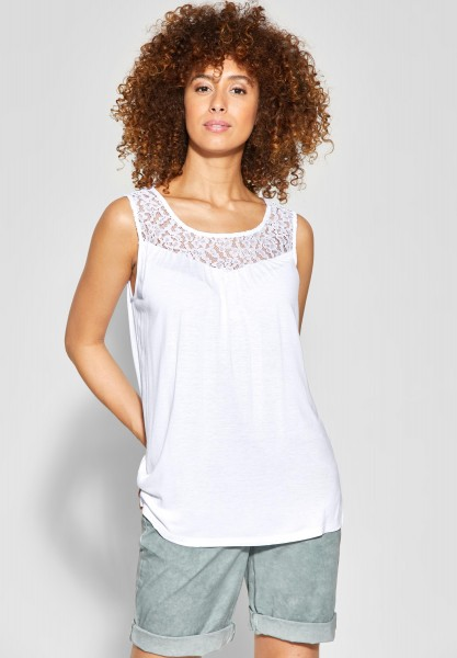 Street One - Top mit Spitze in White